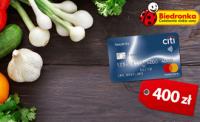 Karta kredytowa CitiBank z voucherem na 400 złotych do Biedronki!
