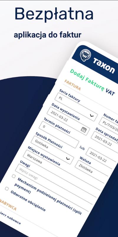 taxon bezpłatna aplikacja dofaktur